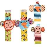 NLRHH Baby Turche Toy Muñeca Bell Buscador Calcetines Establecer Textura De Desarrollo Lindo Soft Animal Infantil para Negocios Newborn Boys 4pcs Peng