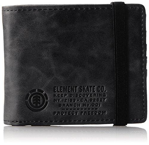 Element Herren Endure L, Wallet Geldbörse, Schwarz (Black),12 x 10 x 2 cm