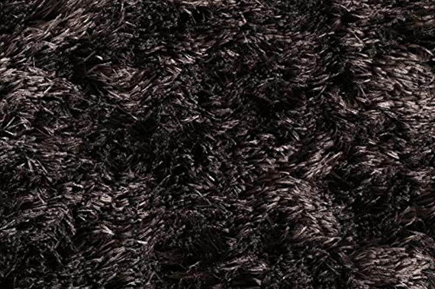 遺伝的権限敬意SEMI-TU 洗濯機で洗える シャギーラグ 100×150cm 楕円形 ラグマット 洗える 滑り止め 夏 北欧 ウレタン 小判型 (ブラウン) TU-500047012-201