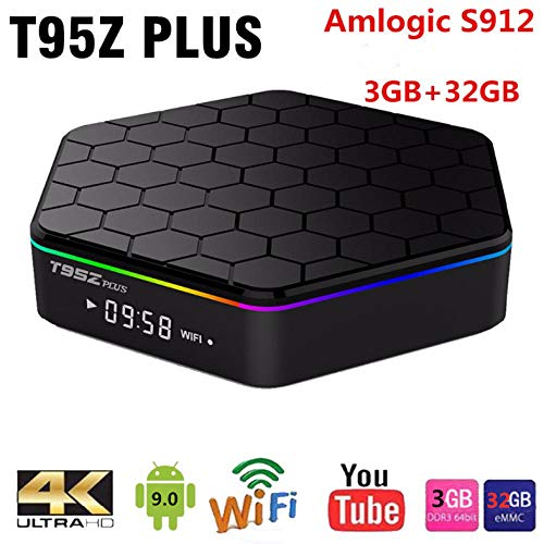T95Z Plus Android 9.0 TV Box Amlogic S912 4K Set Top Box OctaCore 3GB 32GB Dual WiFi T95Z Smart Media Player T95Z Plus Home Smart TV Box