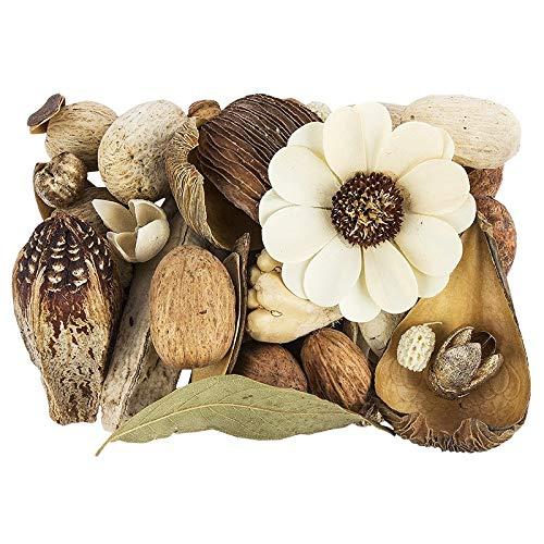 Potpourri | Glamour | Set decorativo | 350 g | Diversi fiori e elementi decorativi | In tonalità naturali