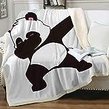 Sleepwish Panda Blankets for Girls Funny Panda Plush Sherpa Throw Cartoon Animal Soft Fleece Throws Blankets Cute Dabbing Panda Blanket Gift for Kids Women Cozzy Homes Blankets (50' X 60')