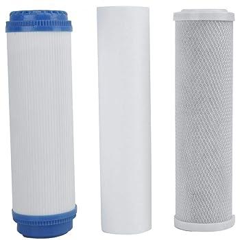 Mumusuki Reemplazo de Cartucho de Filtro de ósmosis inversa Universal de Tres etapas para purificación de Agua doméstica: Amazon.es: Hogar