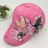 wopiaol Frühling und Sommer Baseballmützen für Männer und Frauen Schmetterlingsstickerei Koreanische Version der Tide Outdoor Caps Sonnenschutz Sonnenhüte
