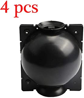 4 pcs Plant Rooting Device High Pressure Propagation Grafting Ball Box (L, Black)