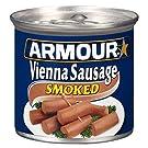 Armour Star Vienna Sausage, Smoked, Canned Sausage, 4.6 OZ (Pack of 24)