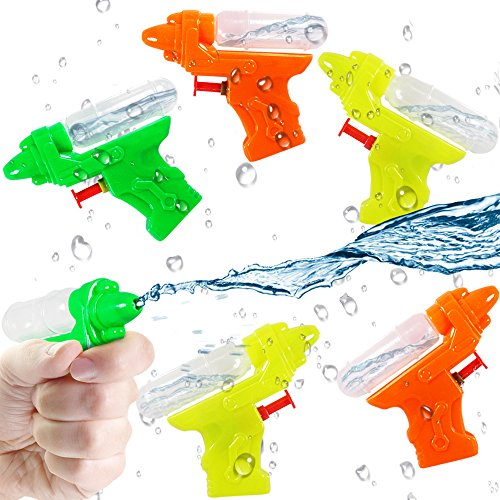 German Trendseller® - 12 x Wasserpistolen - mit Tank ┃ NEU ┃ Mitgebsel ┃ Kindergeburtstag ┃ Kinder Pool Party ┃ 12 Stück