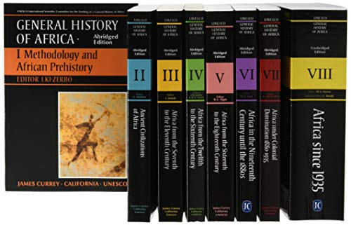 General History of Africa Complete Set of Vols 1-8 [pbks] (Unesco General History of Africa)