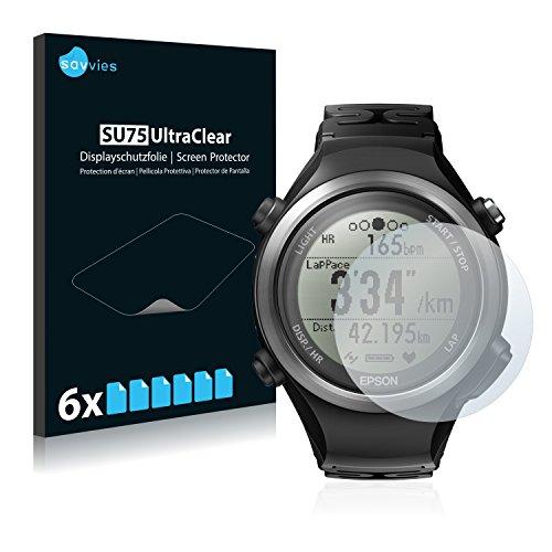 Savvies 6X Schutzfolie kompatibel mit Epson Runsense SF-810 Bildschirmschutz-Folie Ultra-transparent