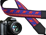 Lucky Elephant Camera Strap. Ethnic Camera Strap. Bright DSLR/SLR Camera Strap. Camera Accessories by InTePro. Code 00256