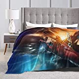 Hoxone The Flash Soft Throw Blanket for Kids and Adult Anime Ultra Cozy and Luxury Decorative Throw Blanket for Couch,Bed,Car and Sofa 60'x50'