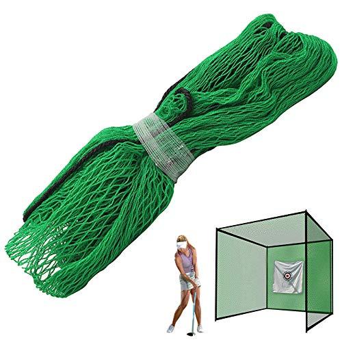 Honeyhouse Red de entrenamiento de golf, color verde, portátil, perfecta para deportes de interior y exterior, 3 m x 3 m