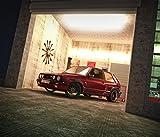 Kunst Druck VW Golf II GTI, Garagenszene 2 Poster Tapete