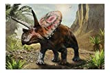 3D Illustration of a Torosaurus from The Cretaceous Era 9032713 (19x27 Premium 1000 Piece Jigsaw Puzzle for Adults, Made in USA!)