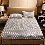 CYYyang Protector de colchón de bambú Funda de colchón y Ajustable Una Sola Pieza de la sábana engrosamiento-17_120 * 200cm