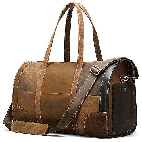 CaoQuanBaiHuoDian Multifunktions Frauen Golf Kleidung Tasche Reisetasche Retrostil Nähen Farbe Umhängetasche Yoga Handtasche Golf Sportsack (Farbe : Braun, Size : One Size)
