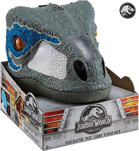 Mattel FMB74 - Jurassic World Velociraptor Deluxe Maske, mit Geräuschen, blue