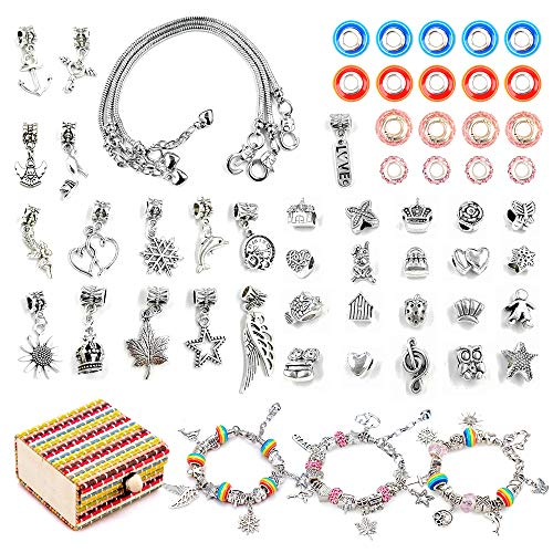 SUNNYPIG Toy Gift for 5-9 Year Olds Girls, Arts Craft Jewellery Making Kit for Kids Girl Age 6-11 Birthday Present Toys Bracelet Crafts Set for 7 8 9 10 Year Old Girls Child Teen DIY Jewellery Toy
