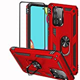Funda para Samsung Galaxy A52 5G/A52S 5G/A52 4G, Diseño de Anillo de Metal Giratorio de 360 grados, Absorción de Golpes, Esquinas reforzadas de TPU Para Galaxy A52S 5G 6,5' Color Rojo