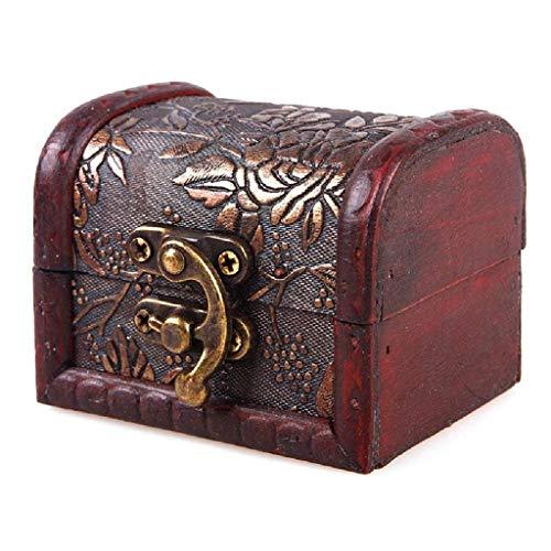Dakaly Vintage Caja de madera antigua caja de joyería europea ...