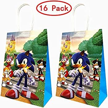 Amazon Com 16 Packs Sonic The Hedgehog Party Gift Bags Sonic The Hedgehog Gift Bags Party Supplies For Kids Sonic The Hedgehog Themed Party Birthday Decoration Gift Bags Well For Girls Or Boys