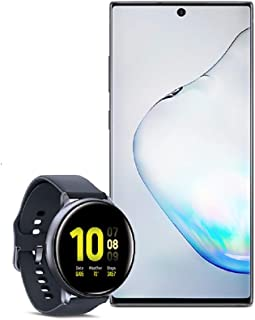 Samsung Galaxy Note 10+ Plus Factory Unlocked Cell Phone with 256GB (U.S. Warranty), Aura Black/ Note10+ w/Samsung Galaxy Watch Active2 (44mm), Aqua Black - US Version with Warranty
