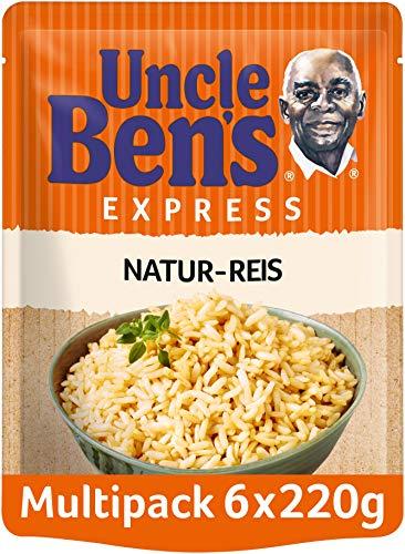 Uncle Ben's Express-Reis Naturreis, 6 Packungen (6 x 220g)