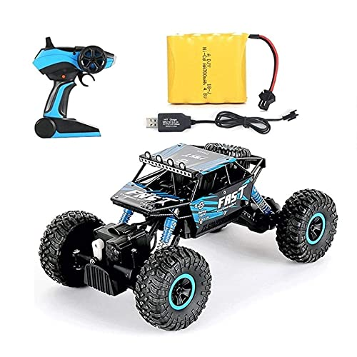 ZCYXQR Coches de Control Remoto 1:18 Radio Big Tire Monster Truck, 2.4G Juguetes Buggy Truck s Off-Road para niños Escaladores Crawlers 4x4 Modelo Ve