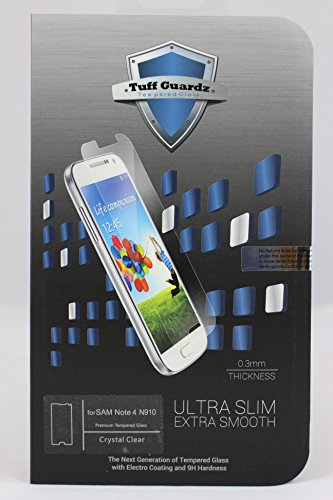 Tuff Guardz Best Premium Tempered Glass Screen Protector for Samsung Galaxy Note 4