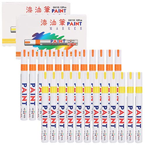 GHMOZ Marker Pen Set 24Pcs Paint Markers Set Oil‑Based Waterproof Marking Tire Check‑in Repair Pen Painting Tools