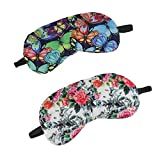 Shop LC Delivering Joy Set of 2 Floral Printed Cotton Eye Shade with Gel Smooth Comfortable Travel Sleeping Unisex