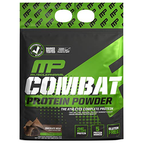 MusclePharm Combat Powder - Chocolate Milk - Nt Wt.: 10lbs (4.54kg)