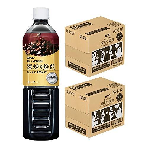 【Amazon.co.jp限定】 [2CS]UCC 職人の珈琲 深炒り焙煎 無糖 コク深め ペットボトル (900ml×12本) ×24本