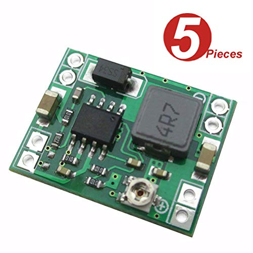 DollaTek 5Pcs MP1584EN Ultra Small DC-DC 3A Power Step-Down Adjustable Module Buck Converter 24V to 12v 9V 5V 3V für Arduino