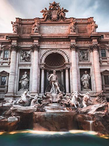 Bebeehome Klassisches Puzzle 1000 Stück Puzzlespiel Für Erwachsene 3D-Puzzle Gehirn Herausforderndes Puzzle Gelegenheitsspiel Spaß Spielzeug Geschenk Rom Trevi Brunnen Italien