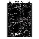 Mr. & Mrs. Panda Poster DIN A3 Stadt Tübingen Stadt Black