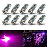 iBrightstar Newest Extremely Bright Wedge T10 168 194 LED Bulbs for Car Interior Dome Map Door Courtesy License Plate Lights, Purple