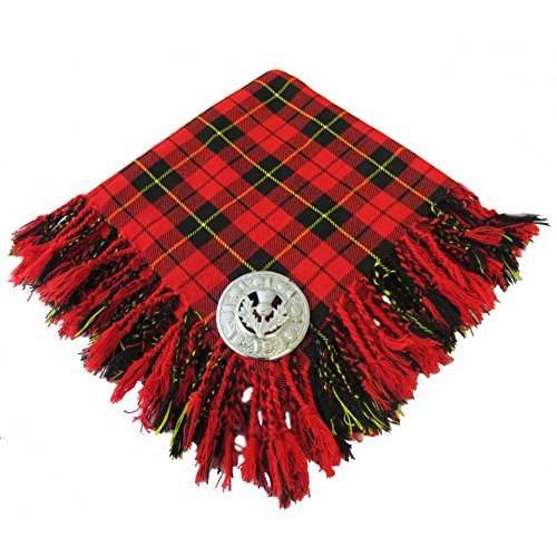 Tartanista Scottish Fly Plaid With Brooch Wallace