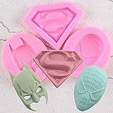 Generies Sugarcraft Superman Spiderman Batman Silikonformen Fondantform Kuchen Dekorationswerkzeuge...