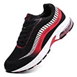 Ahico Sneakers Running Shoes Air Cushion Women Tennis Shoe Lightweight Fashion Walking Breathable Athletic Training Sport for Womens Black/Red