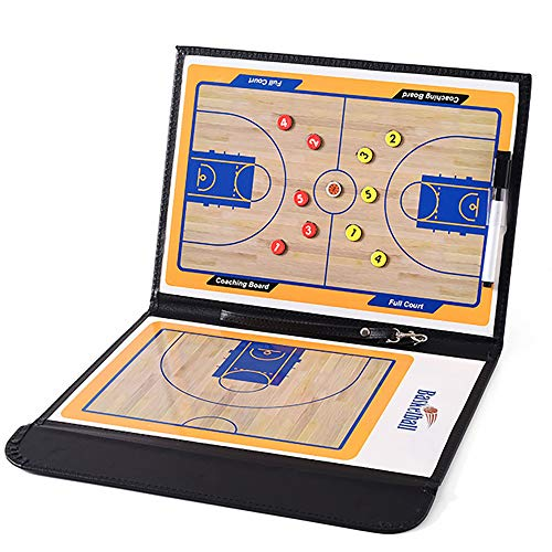 Buy XCMY Foldable Basketball Coach Board with Writing Wipe Pen Portable Coach Tactic Board Suitable ...