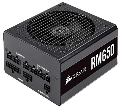 Corsair RM650 PC-Netzteil (Voll-Modulares Kabelmanagement, 80 Plus Gold, 650 Watt, EU) schwarz