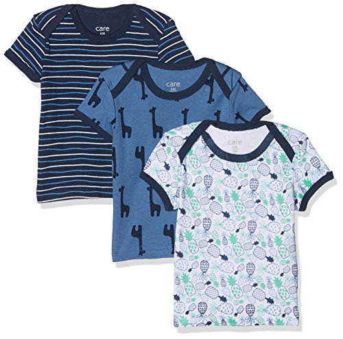 Care Baby-Jungen T-Shirt im 3er Pack Dunkel Blau 772), 0-3 Monate/56 cm 3er-Pack