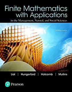 Finite Mathematics with Applications and Mylab Math with Pearson Etext -- 24-Month Access Card Package