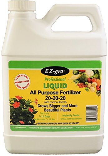 20 20 20 Fertilizer is an All Purpose Plant Food and Garden Fertilizer That is E Z to Mix and E Z to Use | EZ-gro Liquid Fertilizer is a Concentrated Water Soluble Fertilizer | 1 Quart (32 oz)
