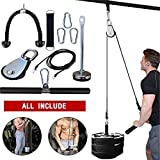 Pulley Cable Machine Men Women Professional Muscle Strength Fitness Equipment Forearm Wrist Roller Training for LAT Pulldowns, Biceps Curl, Triceps Extensions Workout Straight Curved