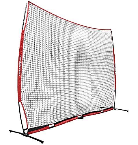 PowerNet XL Sports Barrier Net 21.5 ft x 11.5 ft - 247 SqFt of Protection | Safety Backstop Barricade for Baseball, Lacrosse, Basketball, Soccer, Field Hockey, Softball | Portable EZ Setup | Indoor O