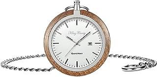 Orologio da taschino da uomo meccanico con cinturino a catena, retro classico liscio, numeri romani personalizzati, regalo per la festa del papà