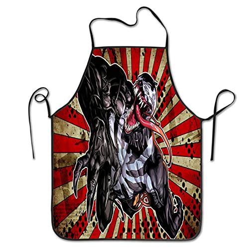 Delantal Venom de moda para el hogar y la cocina, para cocinar, hornear y hornear, unisex