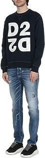 DSQUARED2 Mirror Effect Logo Sweatshirt Model S74GU0390S25042 Blue
